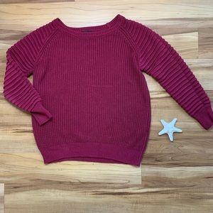 Mark. Knit Contrast Sleeve Sweater